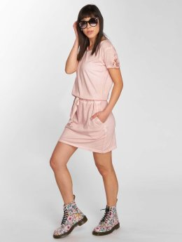 Stitch & Soul Kleid Midi rosa