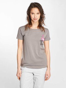 Stitch & Soul T-Shirt Flamingo grau