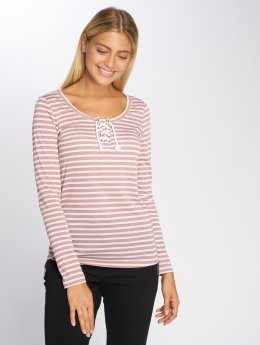 Stitch & Soul T-Shirt manches longues Stripes rose