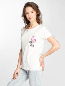 Stitch & Soul T-Shirt Flamingo weiß