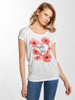 Stitch & Soul T-skjorter Enjoy Love hvit