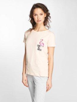 Stitch & Soul T-skjorter Flamingo rosa