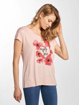 Stitch & Soul T-skjorter Enjoy Love rosa
