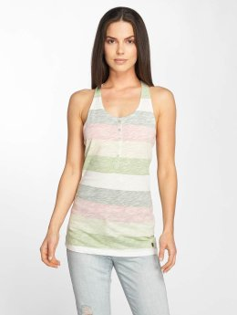 Stitch & Soul Tina Tank Top Peach/Pastel Green/Dark Green
