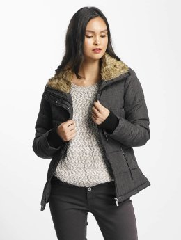 Stitch & Soul Winterjacke Stand Up Collar schwarz