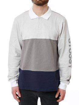 Stüssy Poloshirt Panel Pique Lsl grau