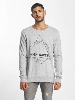Sublevel Пуловер High Waves серый