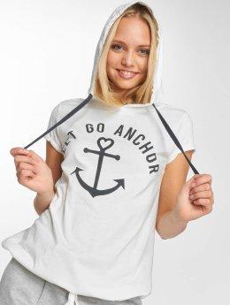 Sublevel Camiseta Hooded blanco