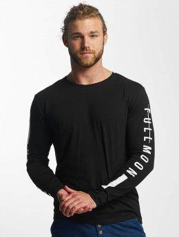 Sublevel Camiseta de manga larga Fullmoon Semilunar  negro