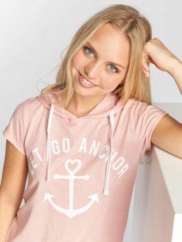 Sublevel Camiseta Hooded rosa