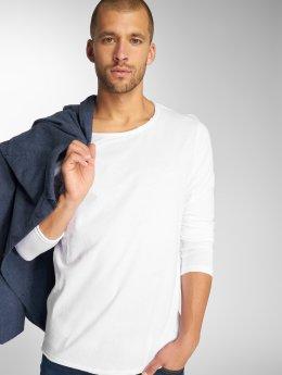 Sublevel Maglietta a manica lunga Basic bianco