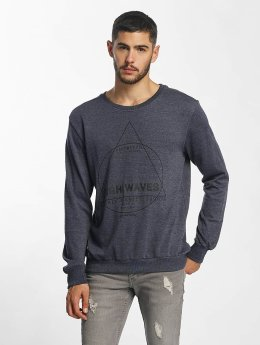 Sublevel Pullover High Waves blau