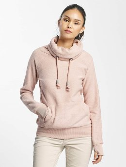 Sublevel Pullover High Neck Sweater rosa