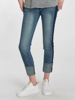 Sublevel Frauen Skinny Jeans Stripe in blau