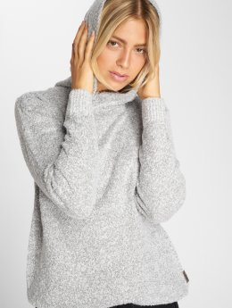 Sublevel Sweat capuche Marled blanc