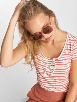 Sublevel T-Shirt Stripes blanc