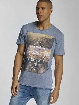 Sublevel T-Shirt Live Your Life blau