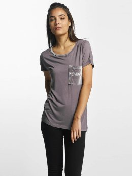 Sublevel T-Shirt Juliana Velvet Femme gris