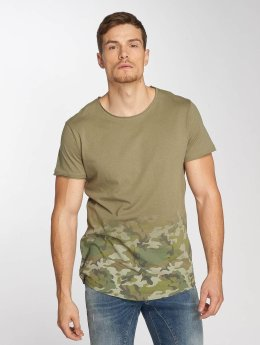 Sublevel t-shirt Deep Camo olijfgroen