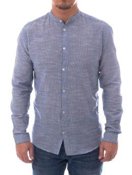 Suit Hemd Reed-Mandarin-Q4277 blau
