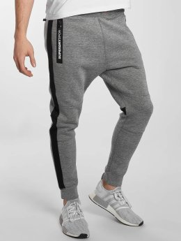 Superdry Sport Gym Technical Stripe Sweatpants Grey Grit/Black