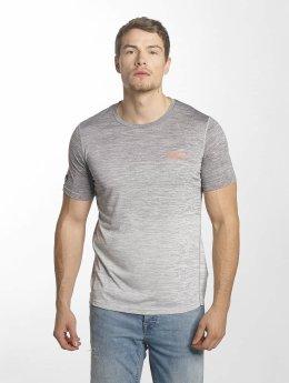 Superdry Sport Active Ombre Grit T-Shirt Castlerock/White