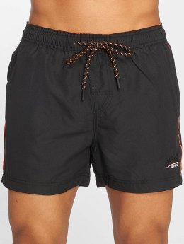 Superdry Badeshorts Beach Volley schwarz