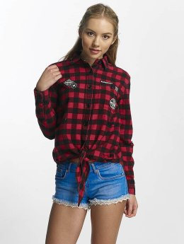 Superdry Blouse Zephyr Check zwart
