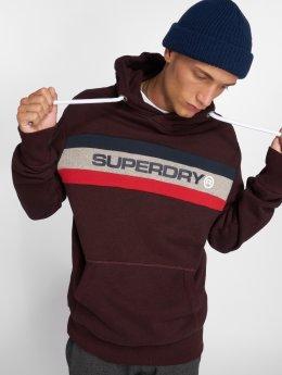 Superdry Bluzy z kapturem Trophy czerwony