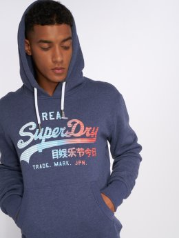 Superdry Bluzy z kapturem Vintage 1st niebieski