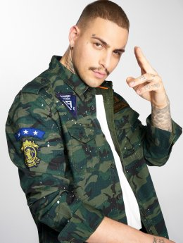 Superdry Camisa Army Tropical camuflaje
