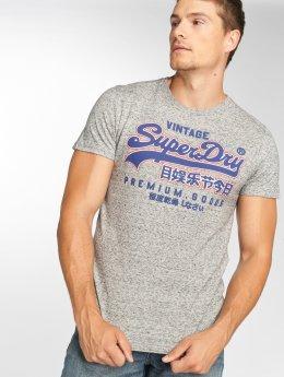 Superdry Premium Goods Out Line T-Shirt Harbour Grey Grit