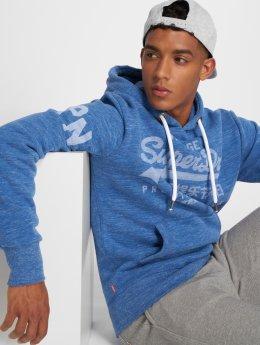Superdry Felpa con cappuccio Premium Goods blu