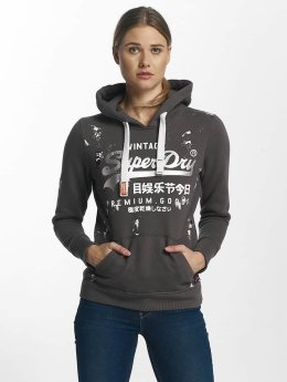 Superdry Hoodie Premium Goods Doodle Entry gray