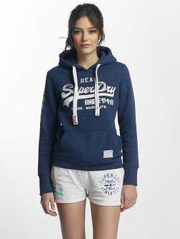 Superdry Hoody Logo Satin Entry blau