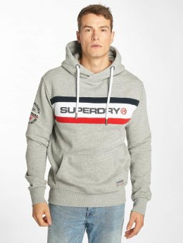Superdry Hoody Trophy Chest Band grijs