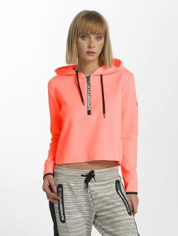 Superdry Hoody Sport Gym Technical Luxe Crop oranje