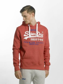 Superdry Premium Goods Duo Hoody Worn Red Grit