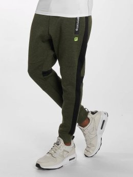 Superdry Jogginghose Sport Gym Technical Stripe olive