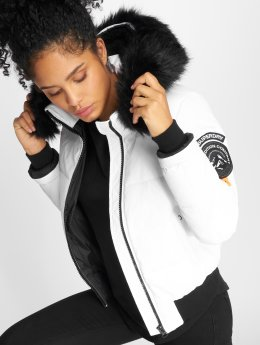 Superdry Manteau hiver Everest Ella blanc
