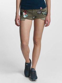 Superdry Denim Hot Shorts Tropical Khaki