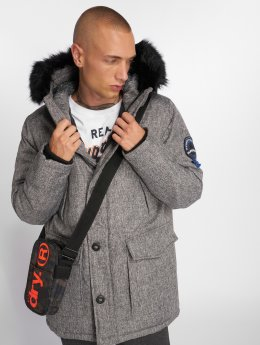 Superdry Parka Everest Tweed grau
