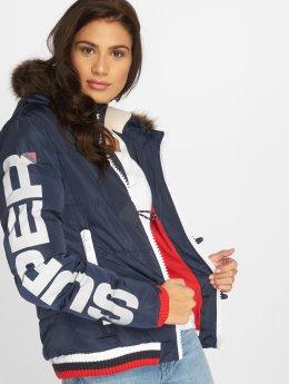 Superdry Puffer Jacket Sportswear Snorkel blau