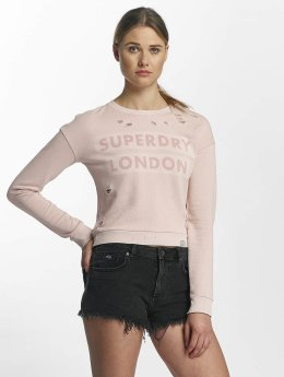 Superdry Pullover Distress Boxy rosa