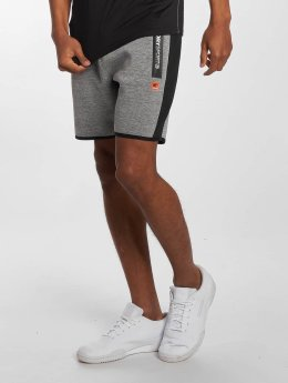 Superdry Shorts Sport Gym Technical Stripe Slim grau