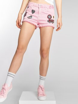 Superdry Shortsit Denim Hot vaaleanpunainen