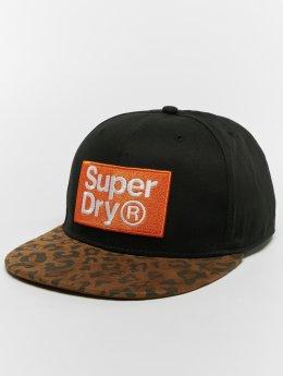 Superdry Snapback Caps B Boy czarny
