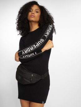 Superdry Sukienki Urban Street Logo czarny