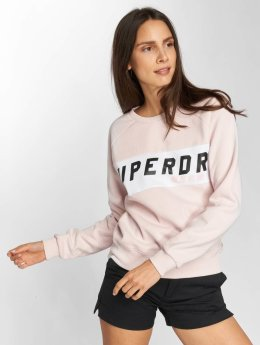 Superdry Sweat & Pull Skater Colourblock rose