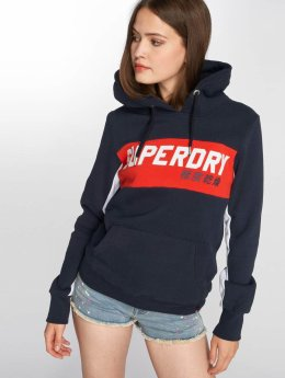 Superdry Sweat capuche Skater Colourblock bleu
